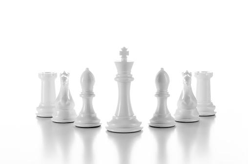 チェス「チーム、グループのホワイトのチェス個白で分離」:スマホ壁紙(19)