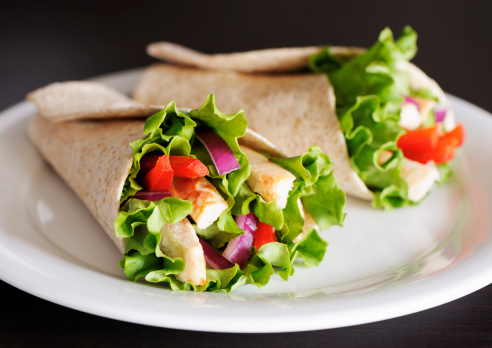 Tortilla - Flatbread「Chicken wrap sandwiches」:スマホ壁紙(2)