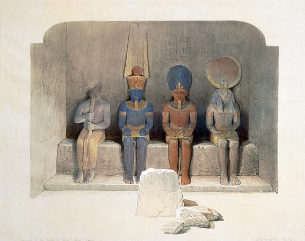 Ancient Civilization「Sanctury Of The Temple Of Abu Simbel Egypt 19th Century」:写真・画像(11)[壁紙.com]