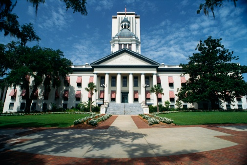 Tallahassee「This is the State Capitol building. It has a large concrete stairway leading up to it with large columns holding up the facade.」:スマホ壁紙(4)
