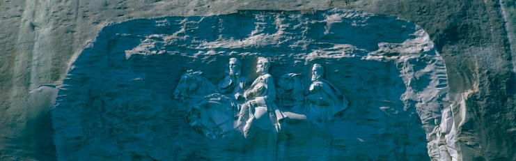 """Stone Mountain - Georgia「""""This is the Confederate Civil War Memorial Carving at Stone Mountain Park showing Jefferson, Davis, Robert E. Lee, and Stonewall Jackson. It is carved into granite rock. """"」:スマホ壁紙(2)"""