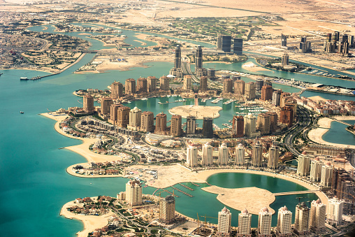 Prosperity「The Pearl of Doha in Qatar aerial view」:スマホ壁紙(17)