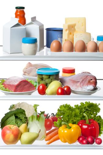 魚「健康的な食品を冷蔵庫」:スマホ壁紙(1)