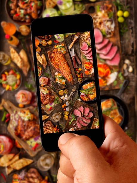 Food Selfie of bbq Feast:スマホ壁紙(壁紙.com)