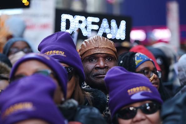 ニューヨーク市「Activists Hold Martin Luther King Day March in New York」:写真・画像(6)[壁紙.com]