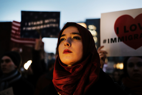 USA「Rally For Muslim And Immigrant Rights Held In New York City」:写真・画像(13)[壁紙.com]