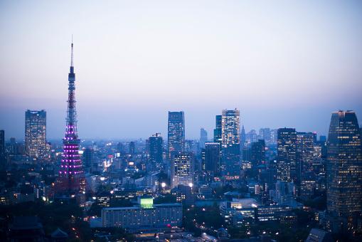 Japan「都会の景観や東京タワー」:スマホ壁紙(1)