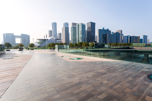 Town Square「Urban landscape of Hangzhou City in China」:スマホ壁紙(3)
