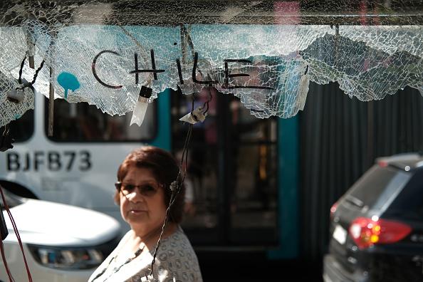 Graffiti「Protests Continue as Chilean Economy Struggles」:写真・画像(1)[壁紙.com]