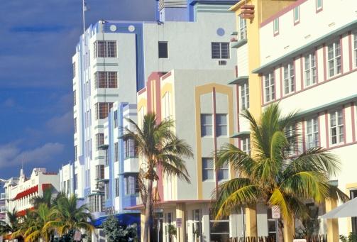Miami Beach「'An Art-Deco District south beach neighborhood, Miami, Florida'」:スマホ壁紙(13)