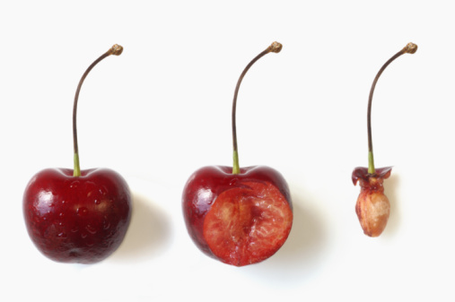 Seed「cherry in three stages of being eaten」:スマホ壁紙(17)