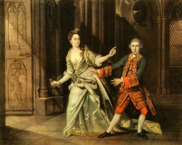 Elizabethan Style「David Garrick and Mrs Pritchard as Macbeth and」:写真・画像(1)[壁紙.com]