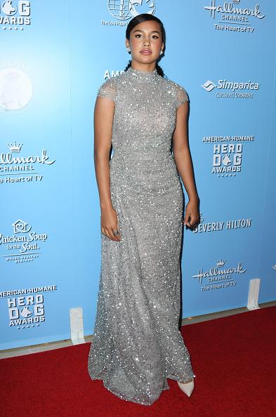 Embellished Dress「9th Annual American Humane Hero Dog Awards - Arrivals」:写真・画像(3)[壁紙.com]