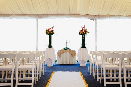 Church「Interior view of wedding tent」:スマホ壁紙(2)