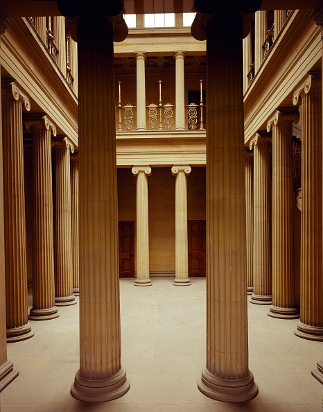 Classical Style「Interior view of the Pillar Hall, Belsay Hall, Northumberland, c2000s(?)」:写真・画像(4)[壁紙.com]
