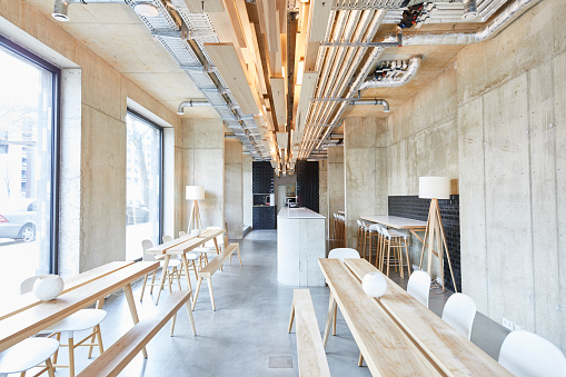 Coffee Break「Interior view of modern office」:スマホ壁紙(0)