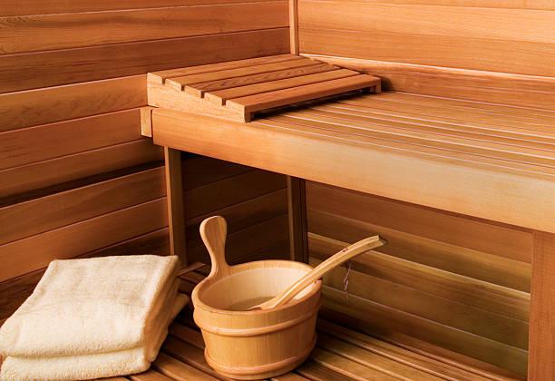 Interior View of Sauna Bath:スマホ壁紙(壁紙.com)