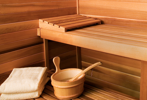 Bucket「Interior View of Sauna Bath」:スマホ壁紙(10)