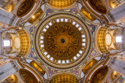 Cathedral「Interior view of St Pauls Cathedral Dome, London」:スマホ壁紙(16)