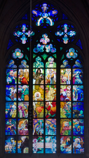 St Vitus's Cathedral「Interior view of cathedral window」:スマホ壁紙(19)
