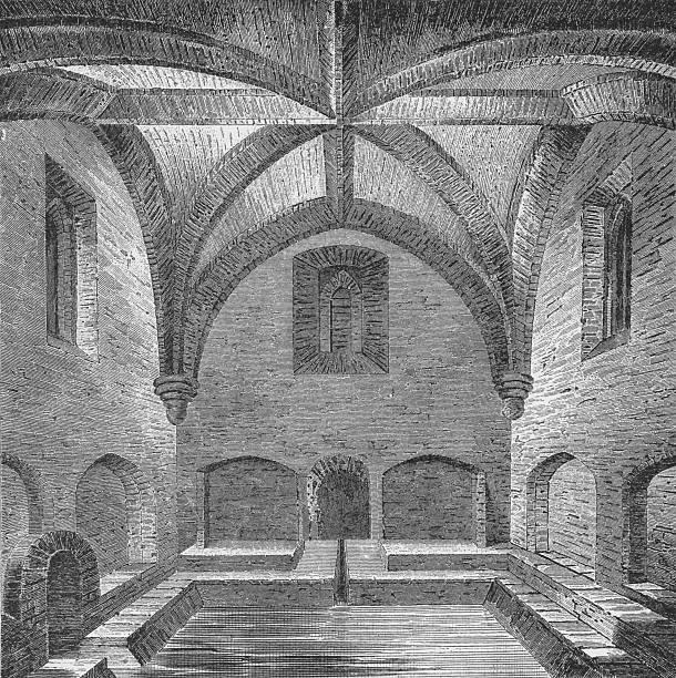 Interior view of Queen Elizabeth's Bath, London, 1834 (1904):ニュース(壁紙.com)