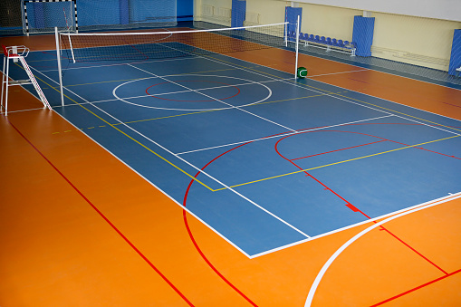 Volleyball「Interior view of a sports ground」:スマホ壁紙(19)