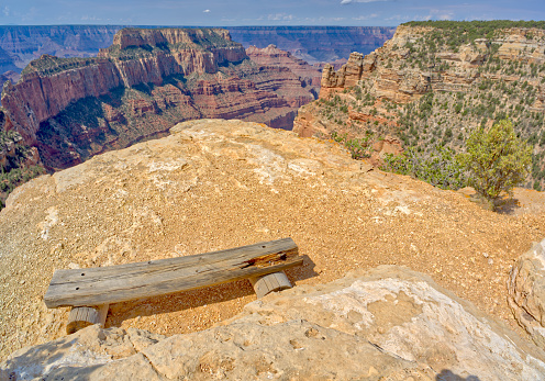 Kaibab National Forest「Amphitheatre bench at Wedding Site, Cape Royal, North Rim, Kaibab National Forest, Grand Canyon, Arizona, USA」:スマホ壁紙(15)