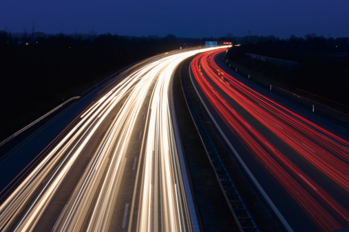 Munich「Europe, Germany, Bavaria, Munich, Rush hour at evening on highway」:スマホ壁紙(13)