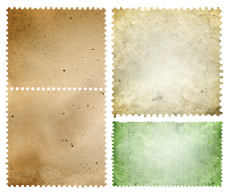 Postage Stamp「Blank postage stamp textured background isolated」:スマホ壁紙(18)