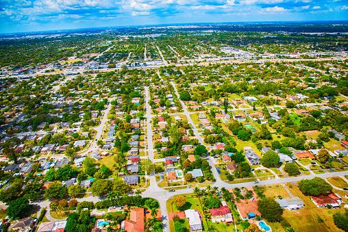 Miami「Residential Suburban Neighborhood From Above」:スマホ壁紙(10)