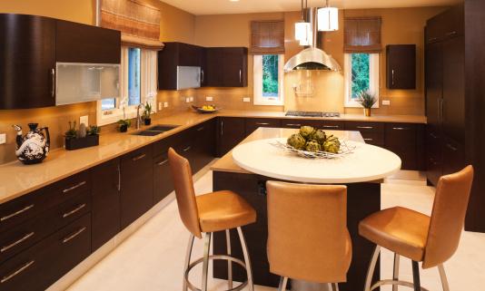 Quartz「Residential kitchen with clean modern look.」:スマホ壁紙(16)