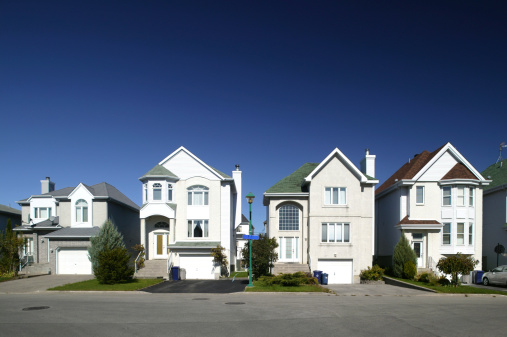 In A Row「residential district houses in a row」:スマホ壁紙(0)