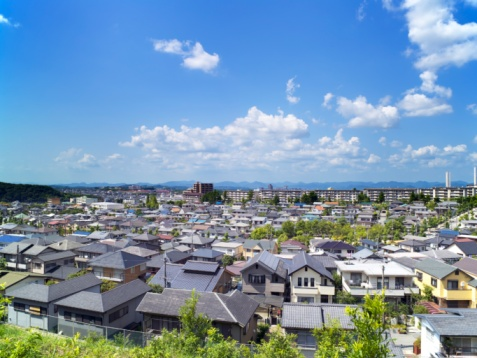 Kinki Region「Residential Area. Kobe, Hyogo Prefecture, Japan」:スマホ壁紙(2)