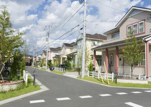 Building Exterior「Residential district」:スマホ壁紙(13)