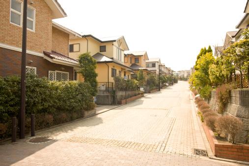 日本「Residential street, Yokohama City, Kanagawa Prefecture, Honshu, Japan」:スマホ壁紙(17)