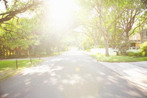 郊外の風景「Residential neighborhood」:スマホ壁紙(11)