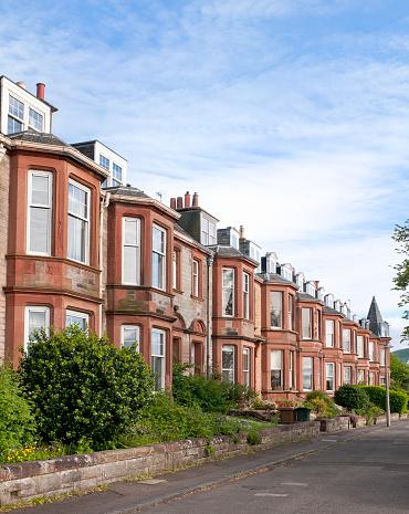 Row House「Residential Street in Edinburgh」:スマホ壁紙(16)