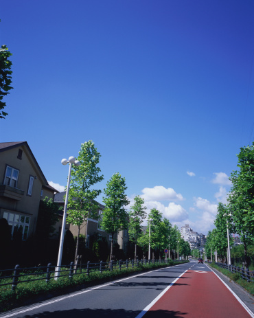 昼間「Residential district in Japan」:スマホ壁紙(9)