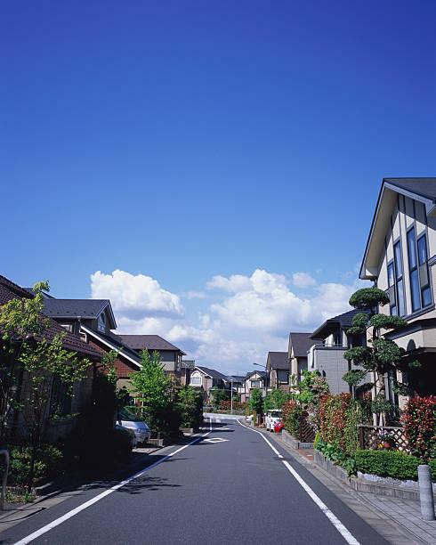 Residential district in Japan:スマホ壁紙(壁紙.com)
