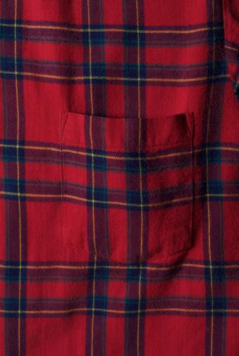 Tartan check「Red plaid flannel shirt with pocket」:スマホ壁紙(3)