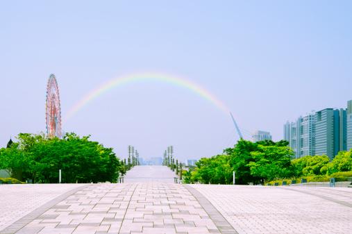 虹「Odaiba, Tokyo Prefecture, Honshu, Japan」:スマホ壁紙(16)