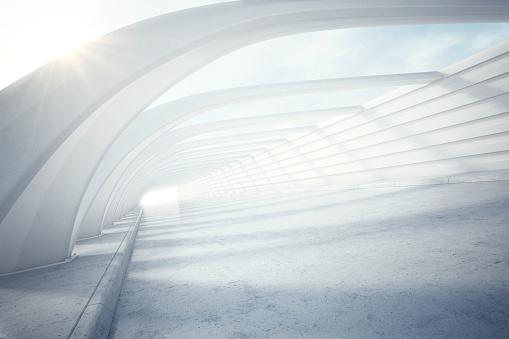Shadow「Bright, modern white tunnel」:スマホ壁紙(7)