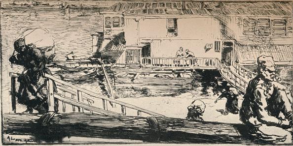 Water's Edge「'Washing Boat', 1915」:写真・画像(13)[壁紙.com]