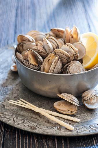 はまぐり料理「新鮮な蒸した貝」:スマホ壁紙(8)