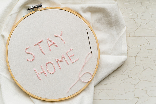 Embroidery「Stay Home embroidery」:スマホ壁紙(17)