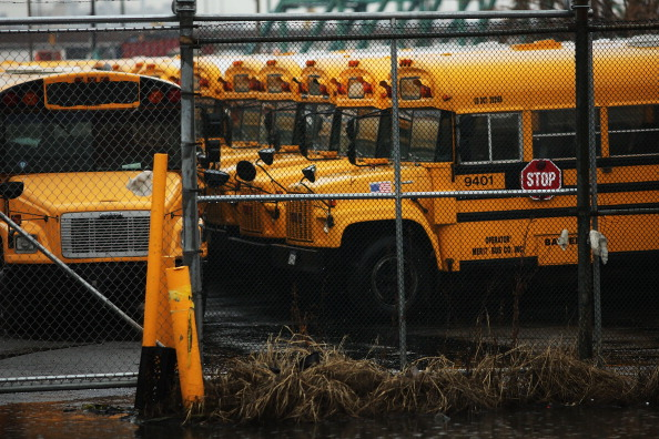 School Bus「New York City School Bus Drivers Strike For Better Job Protection」:写真・画像(4)[壁紙.com]
