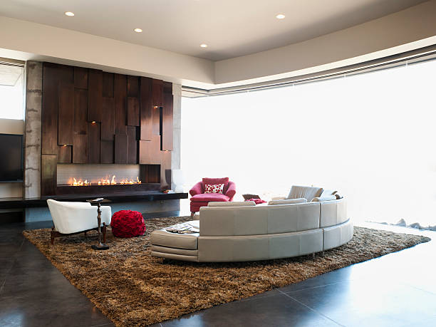 USA, Utah, St. George, Interior of modern living room:スマホ壁紙(壁紙.com)