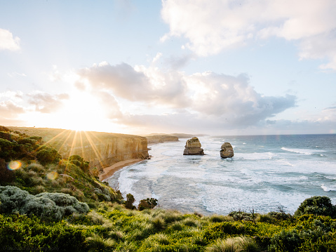 Coastline「Twelve apostles at sunrise, Victoria, Australia」:スマホ壁紙(8)