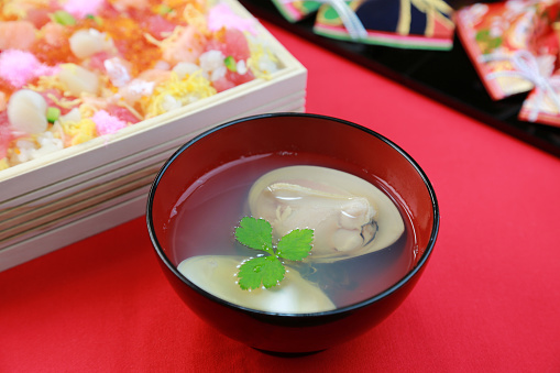 ひな祭り「Ushio-jiru (Japanese clam soup)」:スマホ壁紙(14)