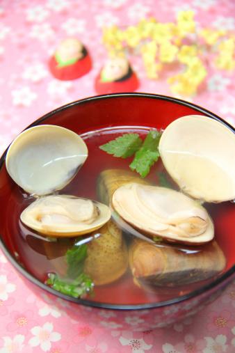 ひな祭り「Ushiojiru (Sea shell soup)」:スマホ壁紙(6)